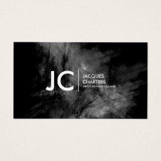 Abstraktes Öl-Malerei-Monogramm-dunkles Monochrom Visitenkarte