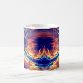 Abstraktes orange Feuer Kaffeetasse