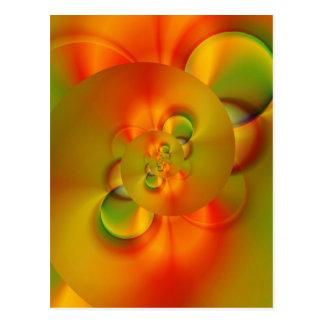 abstraktes orange Grün geschaffen durch Tutti Postkarte