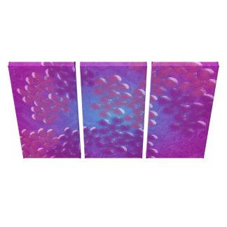 Abstraktes Ozean-Leben-Kunst-Muster Gespannter Galeriedruck