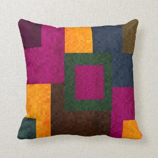 Abstraktes Patchwork-Mosaik-Fliesen-Muster, Kissen