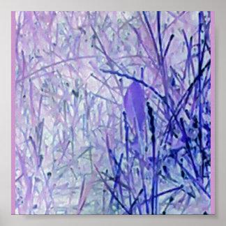 Abstraktes Pflanzenplakat Poster