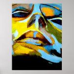 Abstraktes Porträt einer Frau Malerei - Kunst druc Plakatdruck