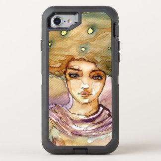 Abstraktes Porträt und hübsche Frau OtterBox Defender iPhone 8/7 Hülle