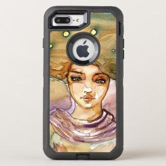 Abstraktes Porträt und hübsche Frau OtterBox Defender iPhone 8 Plus/7 Plus Hülle