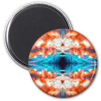 Abstraktes psychedelisches Muster Runder Magnet 5,7 Cm