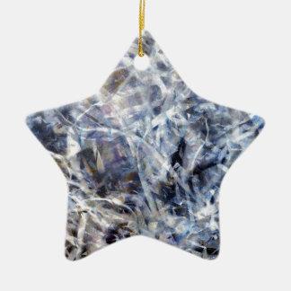 Abstraktes Quadrat des Expressionist-Tanz-3 Keramik Stern-Ornament