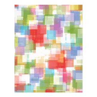 Abstraktes quadratisches mehrfarbiges Mosaik Personalisierte Flyer