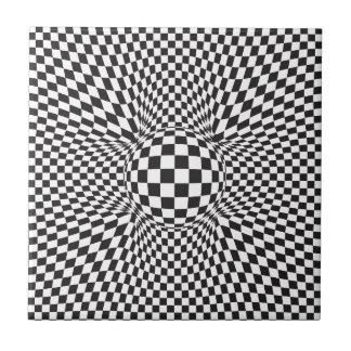 Abstraktes quadratisches Muster Fliese