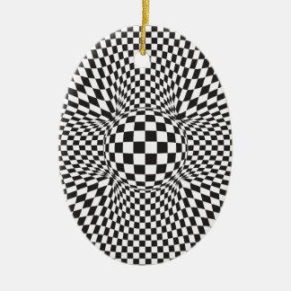 Abstraktes quadratisches Muster Keramik Ornament