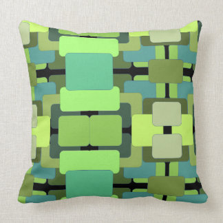 Abstraktes rechteckiges - Schatten des Grüns Kissen