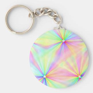 Abstraktes Regenbogen Metallblatt-rostiges antikes Schlüsselanhänger