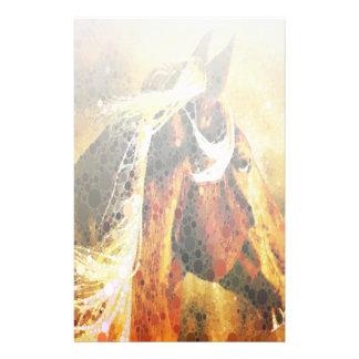 Abstraktes ReiterWesternlandpferd Briefpapier