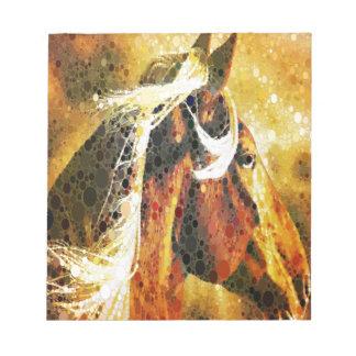 Abstraktes ReiterWesternlandpferd Notizblock