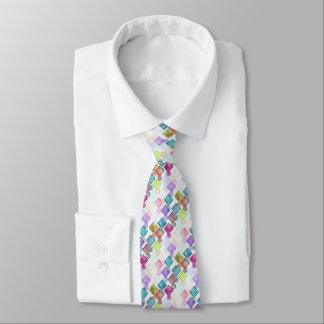 Abstraktes Retro Quadrat-Polka-Punkt-Pastellmuster Individuelle Krawatten
