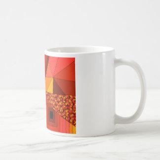 Abstraktes Rot des Entwurfs-2 Kaffeetasse