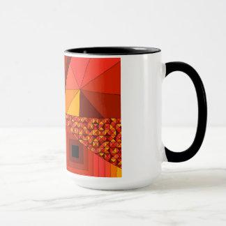 Abstraktes Rot des Entwurfs-2 Tasse