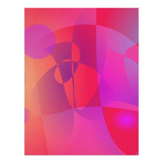Abstraktes Rot Bedruckte Flyer