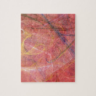 Abstraktes rotes Fraktal Puzzle