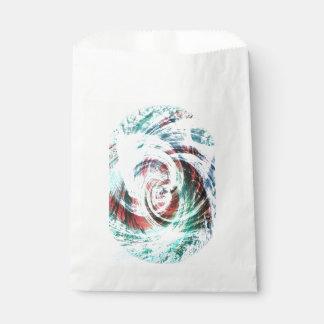 Abstraktes rotes und grünes gemustertes geschenktütchen