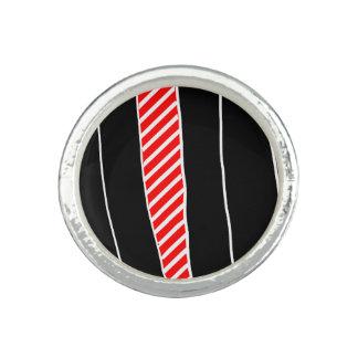 Abstraktes Rotes und schwarz Foto Ringe