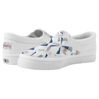 Abstraktes Schimmer-Winter-Muster Slip-On Sneaker