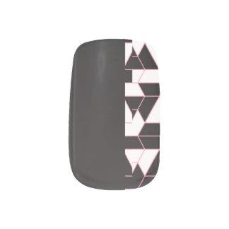 Abstraktes Schwarzes - minimales Muster Minx Nagelkunst