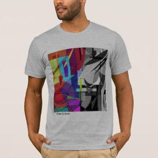 Abstraktes schwarzes und cooles Farbt-shirt T-Shirt