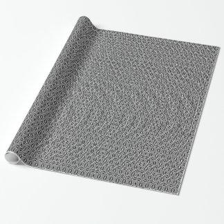 Abstraktes Schwarzweiss-Muster Geschenkpapier