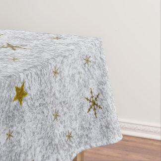 Abstraktes silbernes Papier mit Gold ist, Mond in Tischdecke