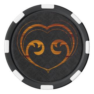 Abstraktes Steampunk Herz Poker Chips