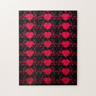 Abstraktes Steampunk Herz Puzzle