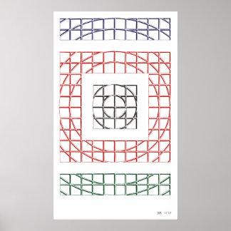 Abstraktes Stift-Zeichnen Poster