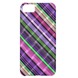 Abstraktes Streifen-Muster (lila, rosa, Grün) 2 iPhone 5C Hülle