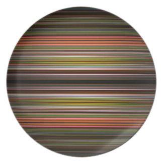 Abstraktes Streifenmuster Melaminteller