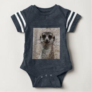 abstraktes Tier - Meerkat Baby Strampler