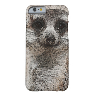 abstraktes Tier - Meerkat Barely There iPhone 6 Hülle
