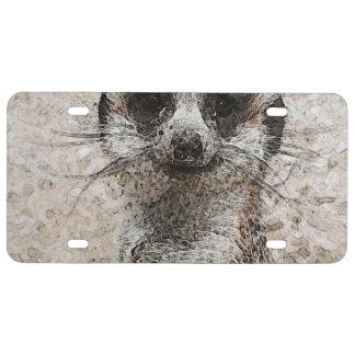 abstraktes Tier - Meerkat US Nummernschild