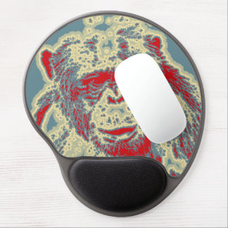 abstraktes Tier - Schimpanse Gel Mousepad