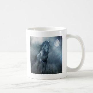 Abstraktes Tiermondschein-Pferd Kaffeetasse