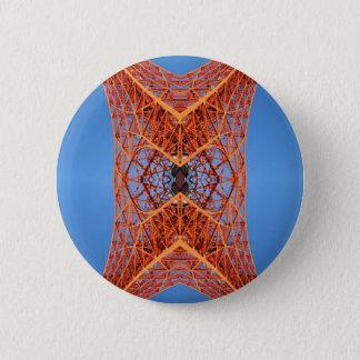 Abstraktes Tokyo-Turmmuster Runder Button 5,7 Cm
