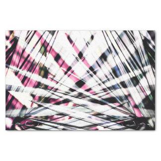 Abstraktes tropisches schwarzes und rosa seidenpapier