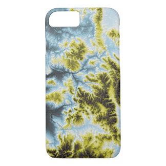 Abstraktes Veränderungs-Colorado-Blau zum sich iPhone 8/7 Hülle