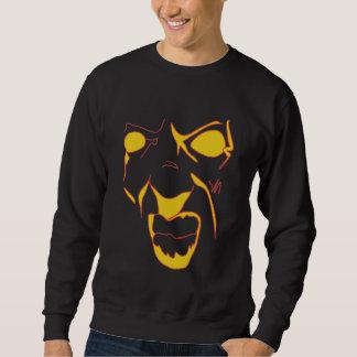 Abstraktes verärgertes Gesicht Sweatshirt