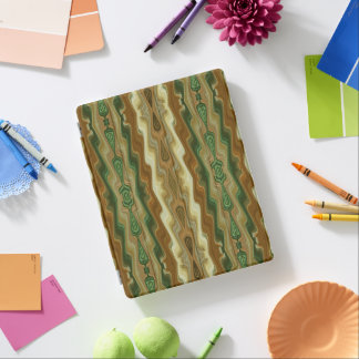 Abstraktes vertikales gestreiftes Muster iPad Hülle