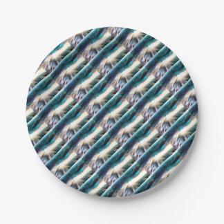 Abstraktes Wasser - Lichtgeschwindigkeit Pappteller