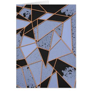 Abstraktes zerbrochen karte