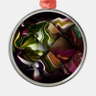 AbstraktGeflochten Rundes Silberfarbenes Ornament