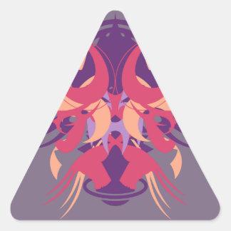 Abstraktion acht Dolos Dreieckiger Aufkleber