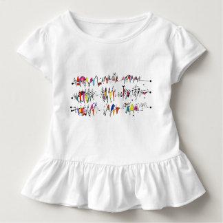 Abstraktion von den wallend Linien Kleinkind T-shirt